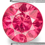 0.78-Carat Dazzling Fiery Pinkish Red Round-Cut Ruby (Unheated)