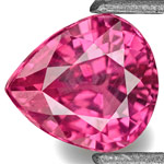 0.73-Carat Lively Pear-Shaped Vivid Pink Red Burmese Ruby (UH)