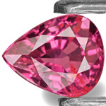 0.88-Carat IGI-Certified Unheated Pear-Shaped Burma Ruby