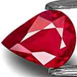 2.01-Carat Deep Pinkish Red Unheated Pear-Shaped Ruby (GRS)