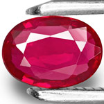 0.77-Carat Eye-Clean Intense Pinkish Red Ruby from Mozambique