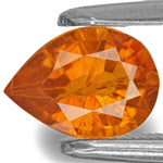 0.90-Carat Lustrous Yellowish Orange Pear-Shaped Clinohumite