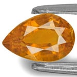 0.87-Carat Lustrous Yellow Orange Pear-Shaped Clinohumite