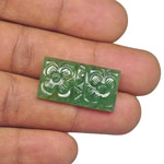 22.36-Carat Rectangular-Cut Emerald with Fancy Carving