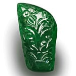 83.39-Carat Large Royal Green Zambian Emerald with Fancy Carving