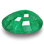 3.71-Carat Oval-Cut Lively Intense Green Emerald from Zambia