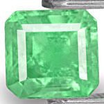 0.99-Carat Eye-Clean Lustrous Green Colombian Emerald