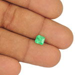 0.99-Carat Bright Green Octagon-Cut Emerald from Colombia