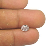 1.11-Carat Unheated Pale Pinkish Brown Sapphire from Sri Lanka