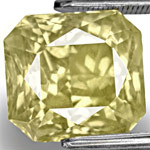 10.10-Carat Eye-Clean Unheated Radiant-Cut Yellow Sapphire