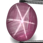 4.94-Carat Purplish Pink Star Sapphire with Extremely Sharp Star