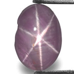 2.88-Carat Greyish Violet Star Sapphire from Ceylon (Sharp Star)