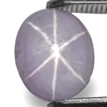 2.73-Carat Unheated Violetish Grey Sri Lankan Star Sapphire