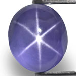 5.84-Carat Eye-Clean Deep Blue Star Sapphire from Sri Lanka