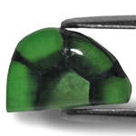 3.17-Carat Free-Form Deep Green Trapiche Emerald from Colombia