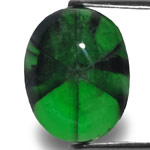 9.86-Carat Royal Green Oval-Cut Trapiche Emerald from Muzo