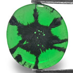1.14-Carat Lovely Rich Green Oval-Cut Colombian Trapiche Emerald