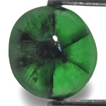 2.35-Carat Deep Velvet Green Oval-Cut Trapiche Emerald