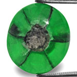 7.52-Carat Unique Neon Green Trapiche Emerald from Colombia