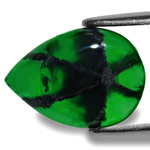 3.80-Carat Deep Royal Green Pear-Shaped Trapiche Emerald