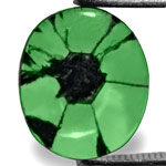 1.39-Carat Light Green Oval-Cut Trapiche Emerald from Colombia