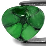 4.25-Carat Heart-Shaped Deep Green Colombian Trapiche Emerald