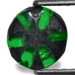 1.23-Carat 7mm Round Trapiche Emerald from Muzo Mines, Colombia