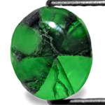 3.94-Carat Velvet Green Trapiche Emerald with Black Spokes
