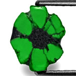 1.60-Carat Royal Green Trapiche Emerald from Muzo, Colombia