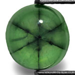 1.71-Carat 7mm Round Light Green Colombian Trapiche Emerald