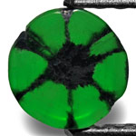 0.79-Carat 6.50mm Round Royal Green Colombian Trapiche Emerald