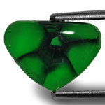 2.36-Carat Heart-Shaped Royal Green Trapiche Emerald from Muzo