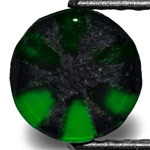 1.22-Carat Round Royal Green Trapiche Emerald from Colombia