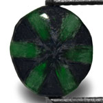 0.54-Carat Intense Green Trapiche Emerald with Black Spokes