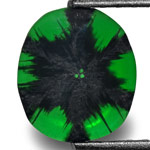 2.42-Carat Pair of Rich Velvet Green Oval Trapiche Emeralds