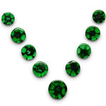 19.00-Carat Exclusive 9-Pc Set of Colombian Trapiche Emeralds