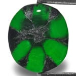 2.26-Carat Rich Royal Green Oval Trapiche Emerald from Colombia