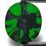 2.27-Carat Natural & Untreated Royal Green Trapiche Emerald