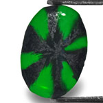 0.99-Carat Wonderful Intense Royal Green Trapiche Emerald