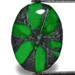 2.43-Carat Royal Green Oval Trapiche Emerald from Colombia