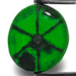 2.40-Carat Intense Royal Green Trapiche Emerald from Colombia