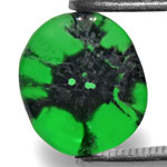 1.27-Carat Deep Green Trapiche Emerald from Muzo, Colombia