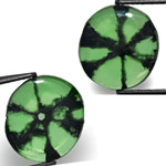 3.24-Carat Matching Pair of Oval-Cut Colombian Trapiche Emeralds