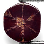 1.32-Carat Dark Red Burmese Trapiche Ruby with Fine Spokes