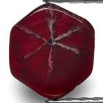 0.94-Carat Pigeon Blood Red Trapiche Ruby from Burma (Unheated)