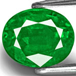 3.49-Carat Rich Velvety Royal Green Emerald from Zambia