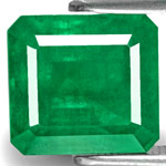 4.32-Carat Eye-Clean Intense Green Emerald from Zambia