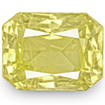 8.26-Carat Radiant-Cut Eye-Clean Lustrous Yellow Sapphire (IGI)