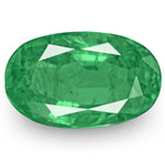 3.64-Carat Lively Intense Green Oval-Cut Emerald from Zambia
