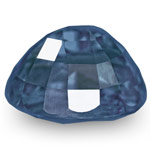 2.20-Carat Unheated VS-Clarity Oval-Cut Intense Blue Sapphire